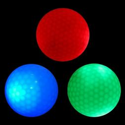 2 LED Activated Golf Balls Glow in the Dark Night Light Up L