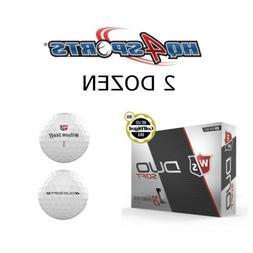2018 Wilson Staff Duo Soft Golf Balls - White 2 Dozen-Free S