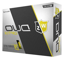 NEW 2018 WILSON STAFF DUO SOFT GOLF BALLS 1 DOZEN OPTIX YELL