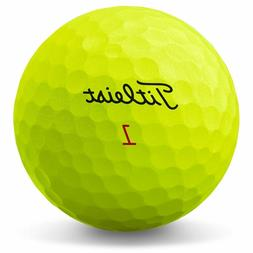2019 Titleist YELLOW! Pro V1x Golf Balls!   1 Dozen! Flawles