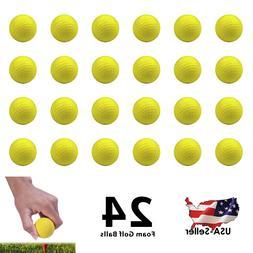 24 foam golf balls practice pu elastic