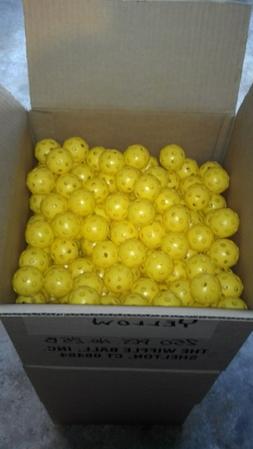 24 WIFFLE® Golf Balls Plastic Practice Poly Golf Balls Yell
