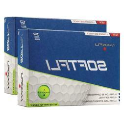 Maxfli 2pk SoftFli Matte Golf Balls Green 24 Balls