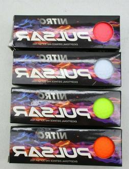 Nitro 3 Pulsar Titanium Fused Golf Balls 4 Packs 3 ea-1 Doze