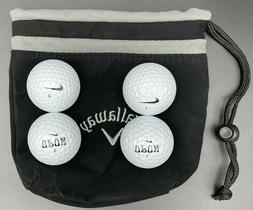 4 Nike Mix Golf Balls 5A with Callaway Valuables Pouch PreOw