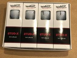 4 Pack Of Titleist Golf Balls X-Out. 12 Golf Balls