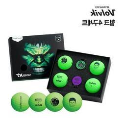 4PCS VOLVIK Golf Ball Hulk VAGS Marvel Equipment Balls Sprot