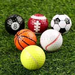 6 Assorted Golf Balls Indoor Outdoor Training Gift for Sport