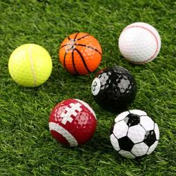 6 Assorted Great Creative Golf Balls Outdoor Training Gift S