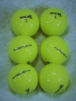 6 NEW Srixon Men's Soft Feel Yellow Golf Balls FREE SHIPPING