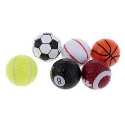 6pcs Novelty Sports Golf Balls Training Ball Trainer Golfer