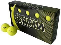 Nitro- Blaster Distance Golf Balls 15-Ball Pack Optic Yellow