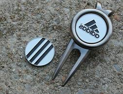 ADIDAS CLASSIC 3 STRIPE 2-SIDED Logo Golf Ball Marker Divot