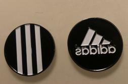 Adidas Golf Ball Marker... 2 Sided.... Black