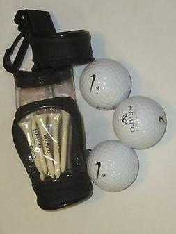 BAG SLEEVE  Three Golf Balls    MENLO WORLWIDE logo + tees