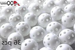 A99 Golf Ball 36pcs Air Flow Ball Practice Training Plastic