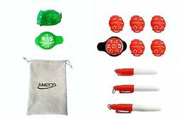 BL010AX POSMA Golf Ball Liner marker 3 sets value pack with