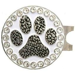 Giggle Golf Bling Paw Print Ball Marker With A Standard Hat