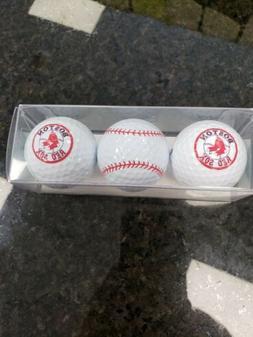 Boston Red Sox - 3 Golf Balls Enjoy Life Inc. Paper Store