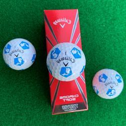 CALLAWAY Chrome Soft TRUVIS STATE OF MICHIGAN Golf Balls - N