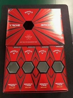 CALLAWAY CHROME SOFT YELLOW EMPTY BOX- ONE BOX WITH SLEEVE B