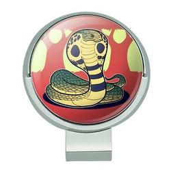 Cobra Snake Golf Hat Clip With Magnetic Ball Marker