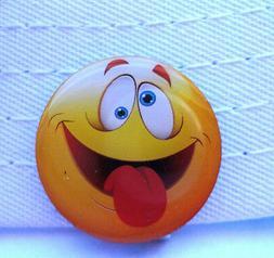 Crazy Emoji Golf Ball Marker - W/Bonus Magnetic Hat Clip