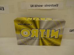 NITRO CROSSFIRE Tournament Soft/Spin 15 Yellow Golf Balls-Br