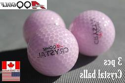 A99 Golf Crystal Balls 3pcs Pink for Gift