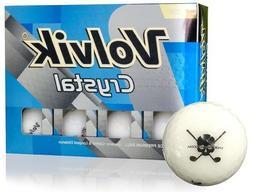 Volvik Crystal White Jolly Rogers Skull Crossbones Golf Ball