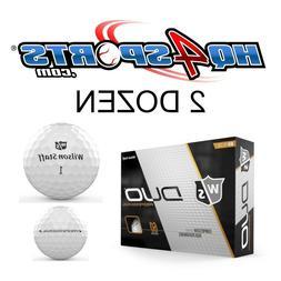 Wilson Staff Duo Pro Golf Balls White - 2 Dozen
