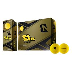 Bridgestone Golf e12 Soft Golf Balls, Matte Yellow One Dozen