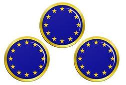 European Union EU Golf Ball Markers