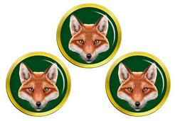 Fox's Head Golf Ball Markers
