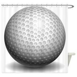 CafePress Golf Ball Decorative Fabric Shower Curtain