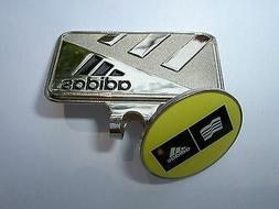 Golf Ball Marker Hat Clip Adidas Yellow & Gold -Japan