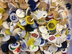 Golf Ball Markers 100 Plastic Putter Dime Size Different Col