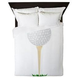 CafePress - Golf Ball On Tee - Queen Duvet
