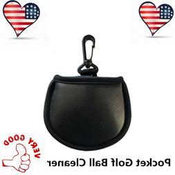 Golf Ball Pouch Pocket Washer Cleaner Towel With Clip For Ba
