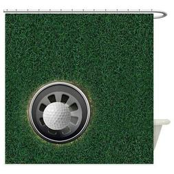 CafePress Golf Cup And Ball Shower Curtain