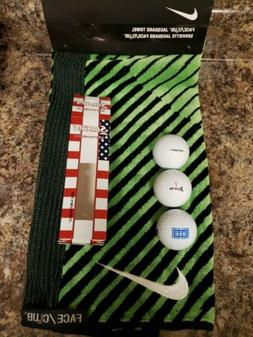 Nike Golf Face / Club Jacquard Towel 16 x 24 Black Voltage G