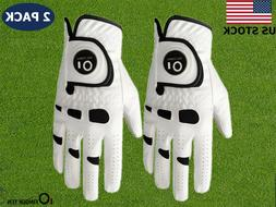 Golf Gloves Ball Marker Mens 2 Pack Value Left Right Hand Pi