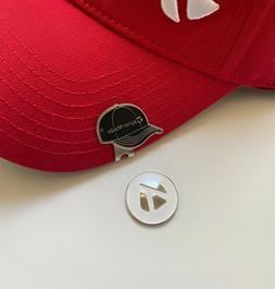 TAYLORMADE GOLF HAT CAP CLIP BLACK WITH MAGNETIC GOLF BALL M