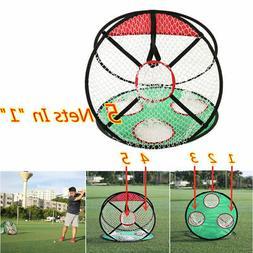 Golf Practice Ball Net Outdoors Sports Fitness Golf Swing Hi