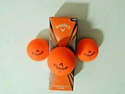 Callaway Golf Superhot Bold ORANGE Golf Balls - NEW 3-Ball S