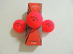 Callaway Golf Superhot Bold RED Golf Balls - NEW 3-Ball Slee