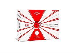 Callaway Golf Supersoft Golf Balls, One Dozen, Red, Matte Fi