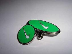 NIKE Green ~ Classic Golf Ball Marker & Hatclip ~ Magnetic L