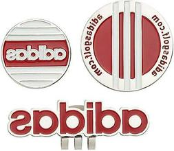 Adidas Japan Golf Ball Clip Marker Twin AWS45 Red