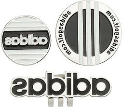 Adidas Japan Golf Ball Clip Marker Twin AWS45 Black
